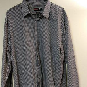 JF J. Ferrar Men's Dress Shirt
